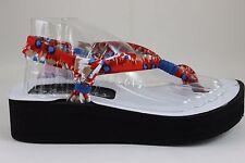 Skechers Women's Vinyasa-Lotus Angel Flip Flop, Blue/Multi, 5 M US