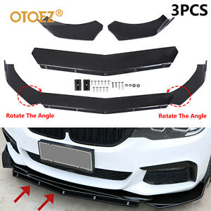 Universal Car Front Bumper Lip Spoiler Kit Splitter Scratches Protector 2 Layer