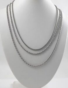 Unisex Stainless Steel Chains & Lobster Clasps 17''-21''