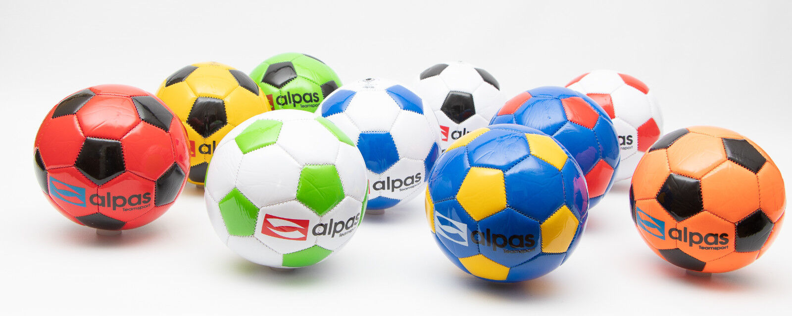 100x Alpas Mini-Fussbälle Miniball  Ball / Fußball Neue Generation Umfang 48 cm.