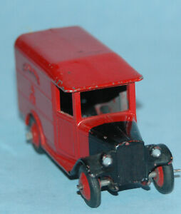Dinky-Toys-MECCANO-England-original-34b-GR-ROYAL-MAIL-VAN-1952-htf-RED-ROOF