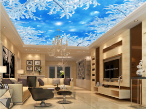 3D Snow Tree Nature 74 Ceiling Wall Paper Print Wall Indoor Wall Murals CA Carly