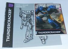 Transformers Combiner Wars ULTRA MAGNUS Bio card Manual