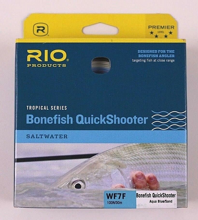 Rio Bonefish QuickShooter WF7F Aqua blu Se gratuito Expedited Shipping 620284