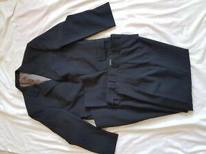 Para-hombre-traje-C-amp-A-Azul-a-Rayas-38-034-Pecho-Pantalones-32-28-034