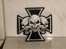 Aufnäher Aufbügler Patch Totenkopf Kreuz Nr.13 - 8,5 x 8,5 cm