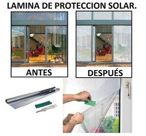 Vinilo de proteccion solar para ventanas efecto espejo - Como poner vinilo en cristal ...
