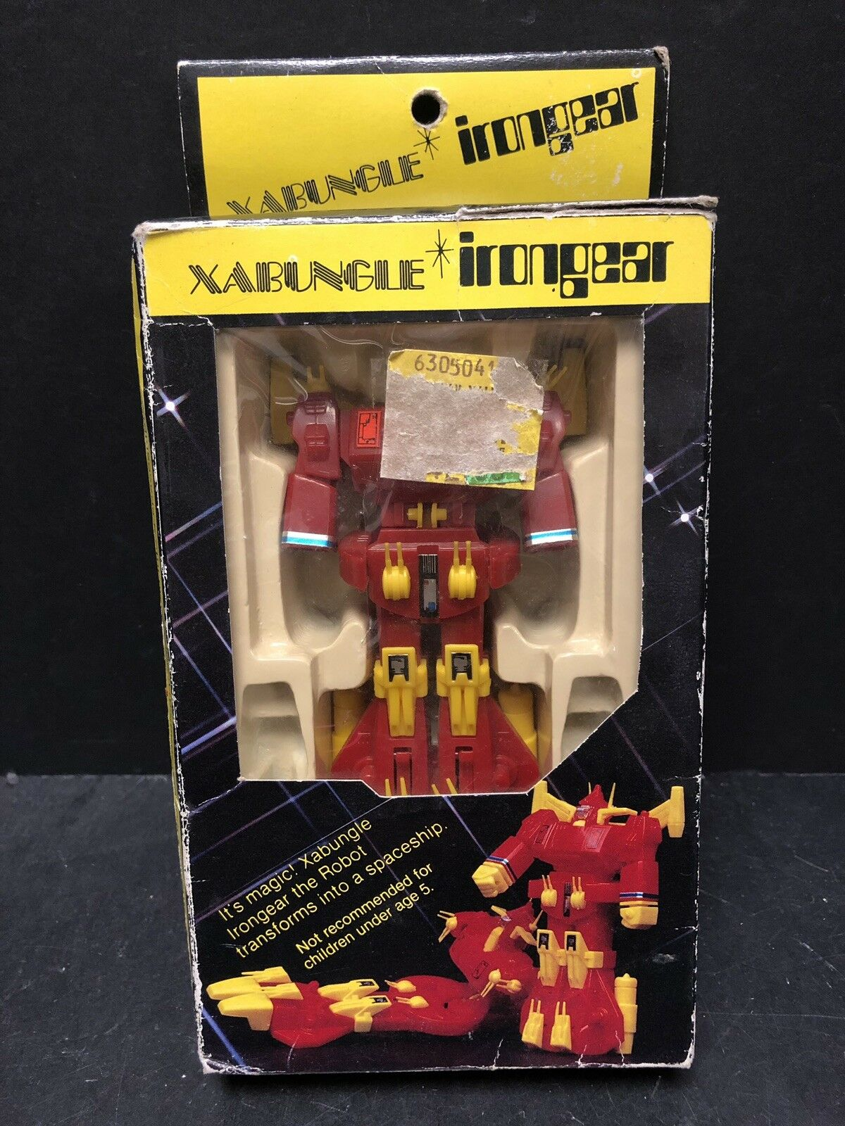 Original Vintage 1984 XABUNGLE irongear Robot Con Caja AM0008