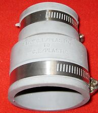 """FERNCO COUPLING 1056-215  1 1/2"""" TO 2"""" C.I.TO PLASTIC  New Old Stock Clearance"""