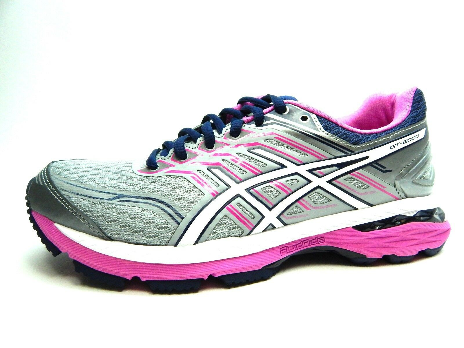 ASICS GT 2000 5 T757N 9601 MIDGREY WHITE PINK GROW WOMEN SHOES SIZE 6.5, 7 & 8 Comfortable and good-looking