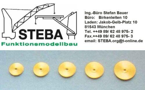 10x Messing Seilrollen 12mm Durchmesser von STEBA 5232