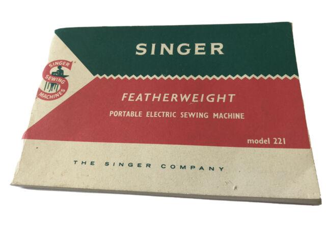 Original Vintage Singer White Featherweight Sewing Machine