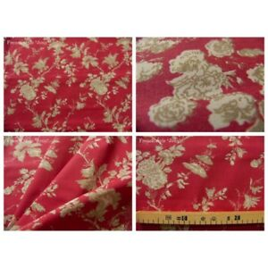 Coupon-fabric-by-50cm-satya-beige-red-background