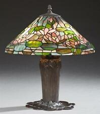 Item 8 Tiffany Style Leaded Gl Table Lamp 20th C The Conical Lot 359