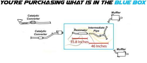 Stainless Steel  Resonator Y  Pipe fits 2006-2009 Subaru Tribeca 3.0L 3.6L