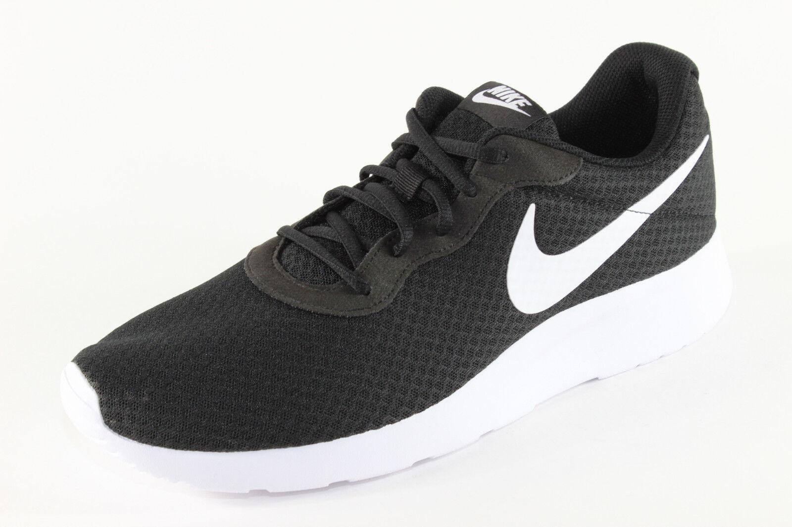 Nike Tanjun, leichte Sport-Turnschuhe, Schwarz   Weiß, Herrenschuhe Übergröße      Üppiges Design