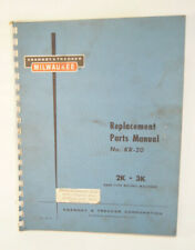 Kearney Amp Trecker Milwaukee Replacement Parts Manual No Kr 20 Milling Machines