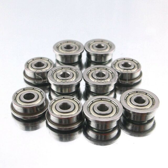 10 x F623zz Mini Metal Double Shielded  Flanged  Ball Bearings (3mm*10mm*4mm)