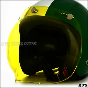 Image Is Loading Yellow Lens Bubble Shield Visor For Cafe Racer