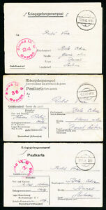 Germany-1940-War-Time-Stamp-Cover-War-time-folded-letters-Group-of-3-VF