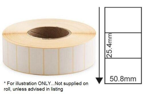 Trasferimento termico diretto etichette bianco 50 x 25 mm 2000 PER ROLL CORE 25 mm