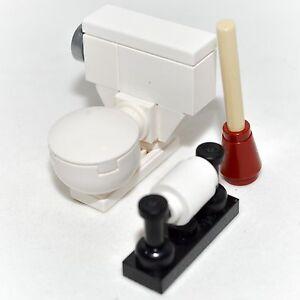 lego furniture toilet bowl w plunger paper roll set house instructions ebay. Black Bedroom Furniture Sets. Home Design Ideas