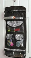 Zebra Print See-thru Hanging Bathroom Space Saving Storage Travel Organizer