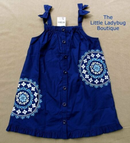 NWT Gymboree GREEK ISLE STYLE Blue Embroidered Mosaic Dress Girls Size 4T 5T