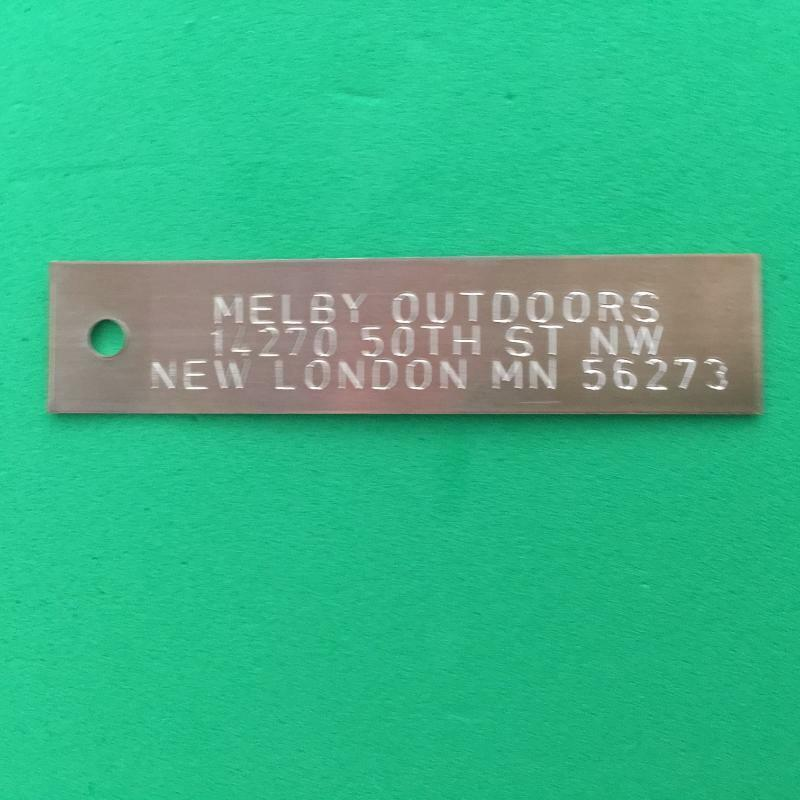 QTY 1000-ENGRAVED COPPER TRAP TAGS TRAPPING SUPPLIES ANIMAL TRAP ID  TRAPPING