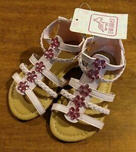 1 Pair Kids Girls Summer Boots Roman Sandals Toddler Gladiator Sandals EBBDAU