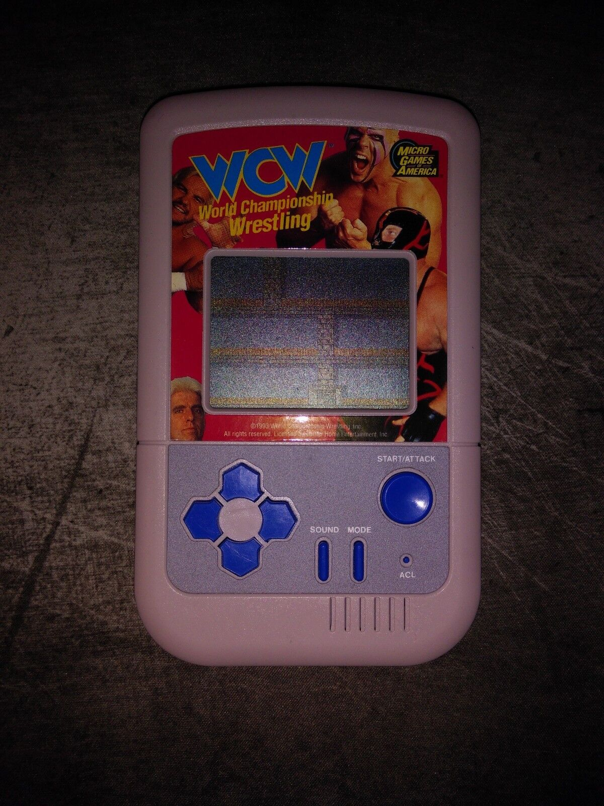 WCW Handheld Game Micro Games of America World Championship Wrestling Rare