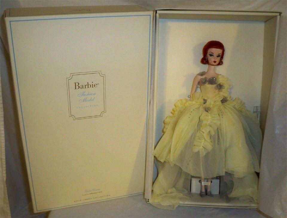 Nunca quitado de la Caja Silkstone vestido de gala Barbie por Robert Best oro Label Muñeca Modelos De Moda