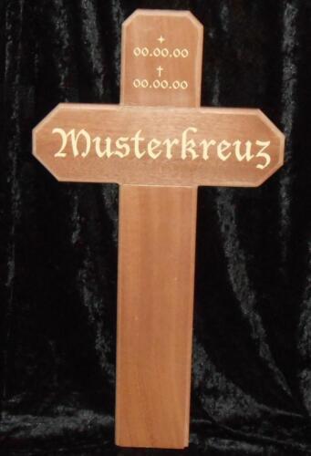Grabkreuz Holzkreuz Wegkreuz Unfallkreuz  100cm Hoch Kantholz 8 x 8cm