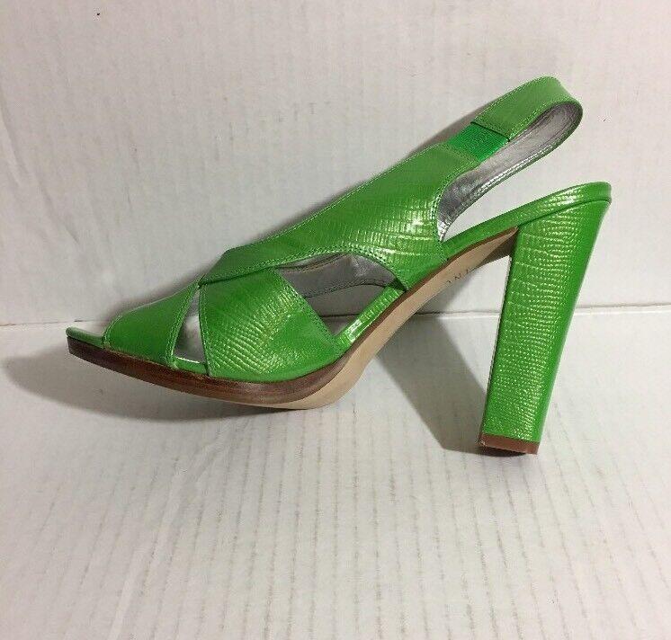 Pre-Owned Patent INC International Concepts Odesa Patent Pre-Owned Leder Green Sandale Größe 10M c6092a