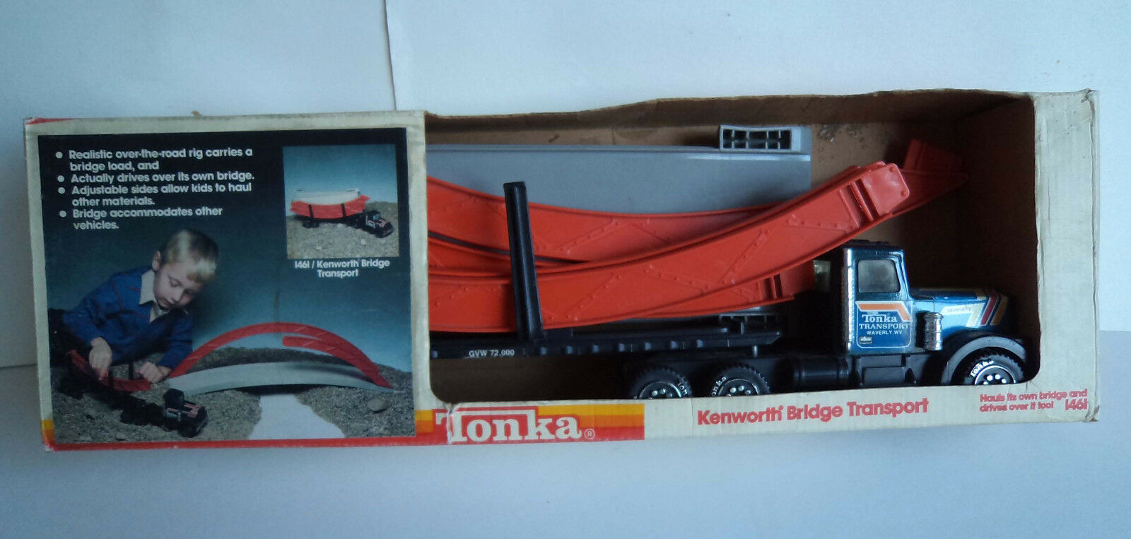 Vintage 1984 Tonka Toys Kenilworth Bridge Transporter Articulated Lorry 15.5