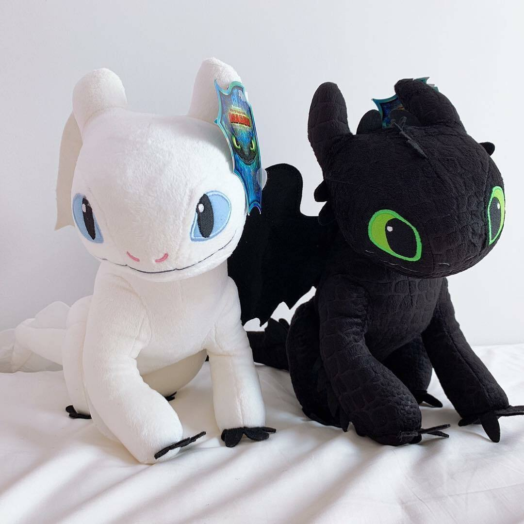 How to Train Your Dragon 3 TOOTHLESS + LIGHT FURY Plush Doll Soft Toys Figure 8