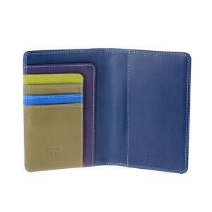 DuDu-Porta-passaporto-in-pelle-Woods-multicolore-con-tasche-porta-carte