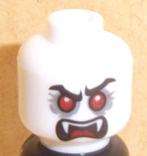 Lego Dracula Vampire Head x 1 White Dual Sided for Minifigure
