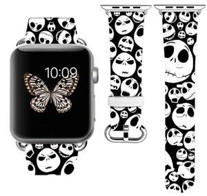 595a7f13cc6 Halloween Nightmare Apple Watch Band 38 40 42 44 mm IWatch PU ...