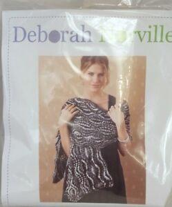Deborah-Norville-Swirling-Shawl-Knitting-Complete-Kit-Soft-Purple-Multi