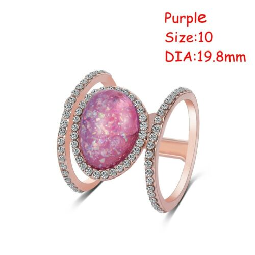 New Jewelry Charm Gift Party Moonstone Ring Diamond Rare Stone 14K