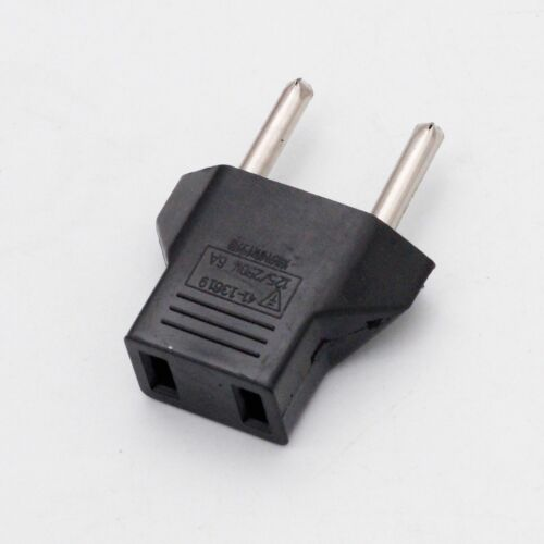 American USA to European EU Travel Adapter Power Jack Wall Plug Outlet Converter