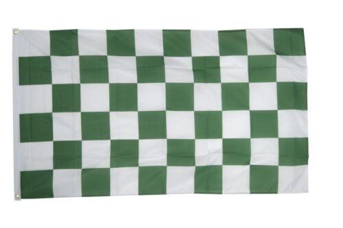 Fahne Karo Grün-Weiß Flagge weiss grüne Hissflagge 90x150cm