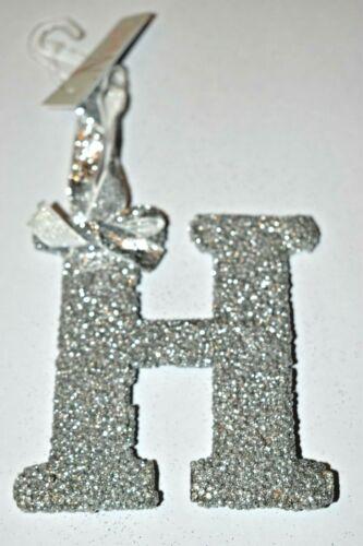 Luxe Argent Pailleté Hanging Lettre Arbre de Noel Décoration Alphabet Gift Tag