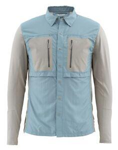 100% Vrai Simms Gt Tricomp Chemise à Manches Longues ~ Nouveau Cadet Bleu ~ Large ~ Closeout-afficher Le Titre D'origine