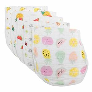 Muslin-Baby-Burp-Cloth-Burping-Bips-100-Organic-Cotton-5-Pack-Large-6-Layers