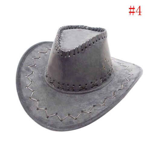 1pc Men Women Wild West Fancy Cowgirl Cowboy Hat Headwear Cap Ullm