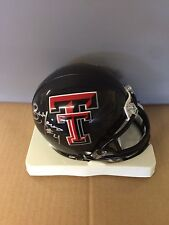 Bam Morris autographed Texas Tech mini helmet Steelers