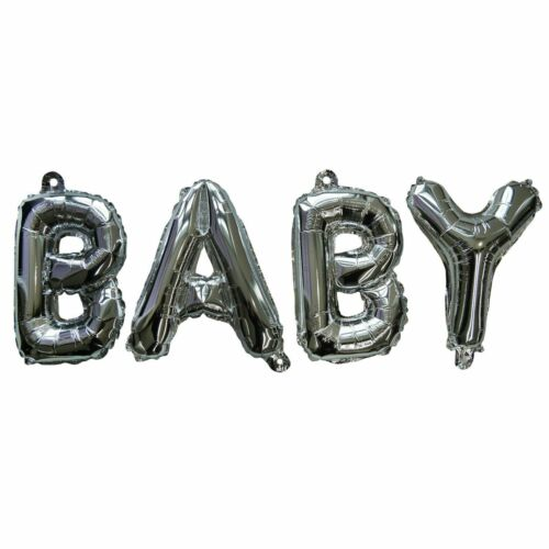 SilverBaby Shower Balloons Details about  /Baby Foil Balloon