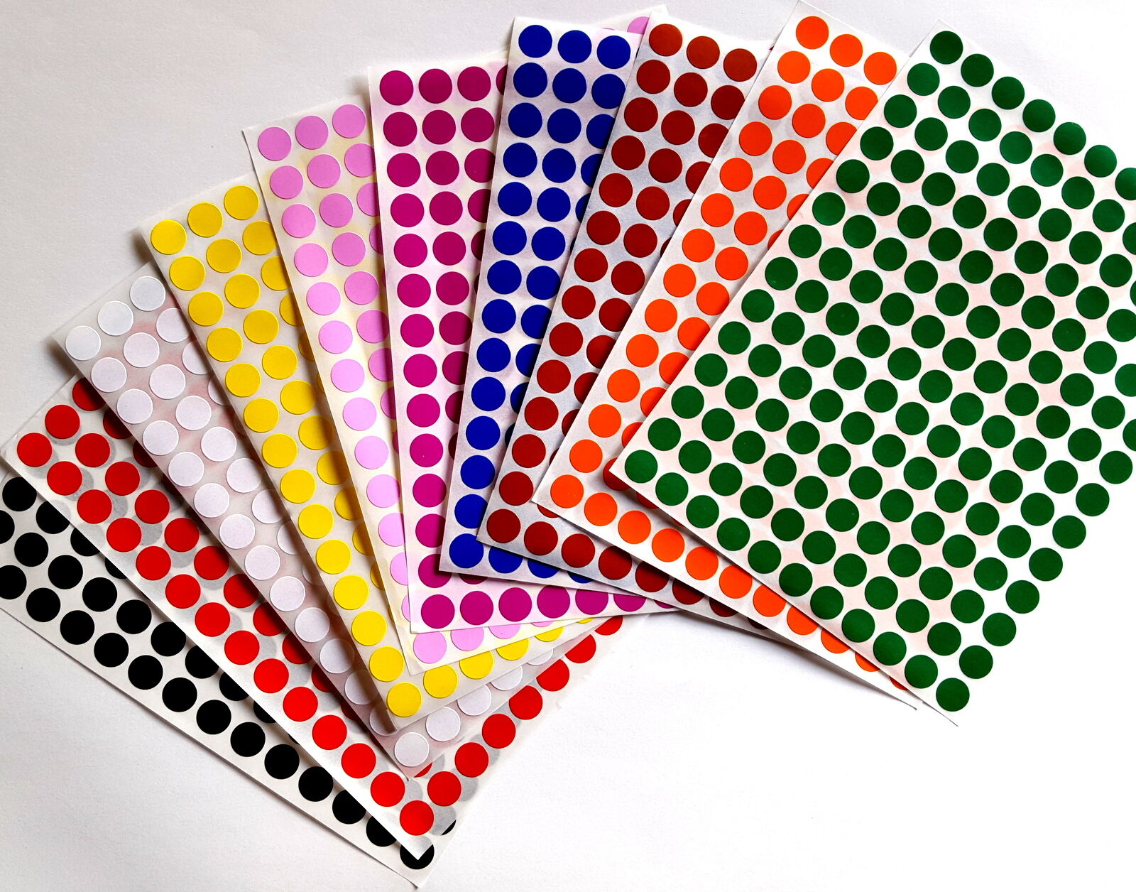 Color Coding Labels 3//8 Inch Stickers Rounds Colored 0.375 Inch Circle 700 Pack